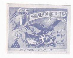 Vignette Militaire Delandre - Italie - 1er Régiment D'artillerie - Militario