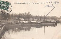 Montceau Les Mines Péniche Péniches Canal Du Centre 3 F Et C Attention état - Montceau Les Mines