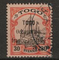TOGO - TIMBRE N° 27 (DALLAY N° 5) SURCHARGE OCCUPATION FRANCO-ANGLAISE OBLITÉRÉ Avec PETIT DÉFAUT AU DOS - Oblitérés