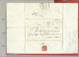 PREFILATELICA PONTIFICIO - 1850 Lettera Con Testo Da TODI A GROTTE SANTO STEFANO - Bolli Postali E Bollo Sigillo - ...-1850 Préphilatélie