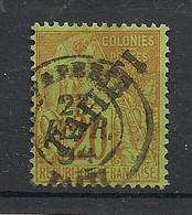 Tahiti - 1893 - N°Yv. 13 - Alphée Dubois 20c Brique - Oblitéré / Used - Used Stamps