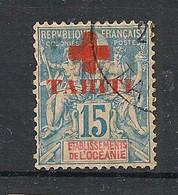 Tahiti - 1915 - N°Yv. 34 - Croix Rouge 15c Bleu - Oblitéré / Used - Used Stamps