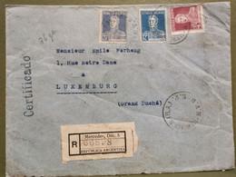 Enveloppe, Oblitéré Mercedes 1924, Recommande Et Certificado. Laboratorio Rafael Gutierrez - Briefe U. Dokumente