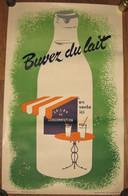 Affiche 31 X 50 Cm - C1955 - Buvez Du Lait - Imprimerie Marci - Voir Photos - Affiches