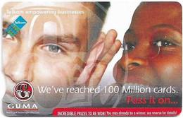 S. Africa - Telkom - 100 Million Cards - Design #1, Cn. TPBA, Gem5 Red, Exp.04.2012, 20R, Used - South Africa