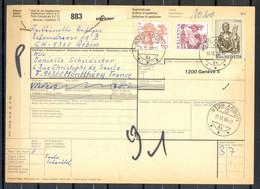 Bulletin D'Expédition - SUISSE / SCHWEIZ - Envoi De ARBON à MONTLHERY - Cachet ARBON 11/12/80 - Zonder Classificatie