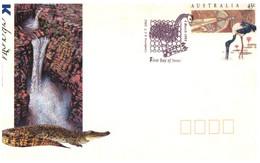 (W16)  Australia Kakadu & Uluru Covers (2 Pre-paid Covers) - Sobre Primer Día (FDC)