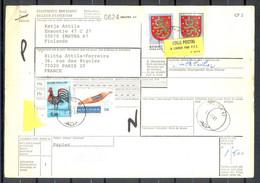 Bulletin D'Expédition - FINLANDE / SUOMI  - Envoi IMATRA VERS PARIS - Cachet IMATRA 31/7/81 - Paketmarken
