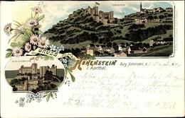 Lithographie Hohenstein Im Aartal, Burg, Restauration, Inh. Theodor Becker - Andere