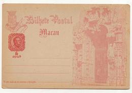 Cx17 A) China Chine Macao Macau Entier Postal Inteiro Postal 1898 2 Avos - Sonstige