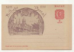 Cx17 A) China Chine Macao Macau Entier Postal Inteiro Postal 1898 2 Avos Mosteiro Jerónimos - Sonstige