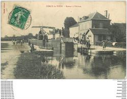 58 CERCY-LA-TOUR. Bateau à Ecluse 1909 - Altri Comuni