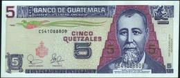 ♛ GUATEMALA - 5 Quetzales 12.02.2003 UNC P.106 A - Guatemala