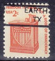 USA Precancel Vorausentwertung Preo, Locals Texas, Earth 835 - Precancels