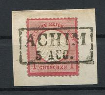 """Deutsches Reich: Kleiner Brustschild 1 Gr. Mi. 4 """"Achim"""" Gestempelt / Used / Oblitéré - Usati"""