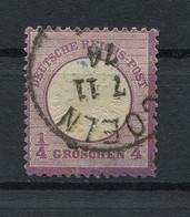 """Deutsches Reich: Großer Brustschild 1/4 Gr. Mi. 16 """"Köln"""" Gestempelt / Used / Oblitéré - Usati"""