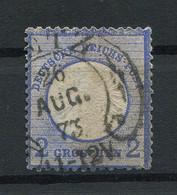 Deutsches Reich: Großer Brustschild 2 Gr. Mi. 20  Gestempelt / Used / Oblitéré - Usati