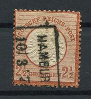 Deutsches Reich: Großer Brustschild 2 1/2 Gr. Mi. 21 Gestempelt / Used / Oblitéré - Usati
