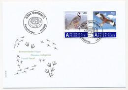 SUISSE -  FDC 2009 - Oiseaux Indigènes - SEMPACH - 1/4/2009 - 3 Enveloppes (2 Séries) - FDC