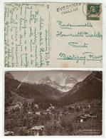 Suisse // Schweiz // Marcophilie // Valais // Carte Avec Cachet Linéaire OVRONNAZ (VALAIS) - Poststempel