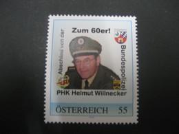 Österreich- Pers.BM 8018364** Zum 60er PHK Helmut Willnecker - Private Stamps