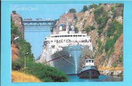 PAQUEBOT---GRECE----CORINTH CANAL--( 16 Cm + 11 C M )--voir 2 Scans - Passagiersschepen