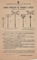 FERROVIE DELLO STATO SEGNALI INDICATORI 1921 (XF390 - Europa