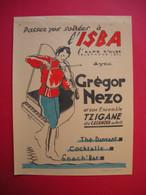 Affiche Publicité Soirées à L'Isba à L''Alpe D'Huez Grégor Nezo & Ensemble Tzigane Du Casanovas De Paris Par Giordano - Advertising