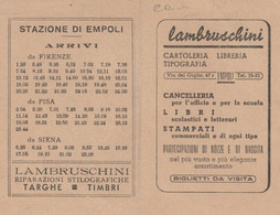 ORARIO FERROVIARIO EMPOLI 1958 (XF410 - Europe