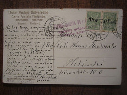 CENSORED 1914 RUSSIA FINLAND WYBORG VIIPURI PC - Storia Postale