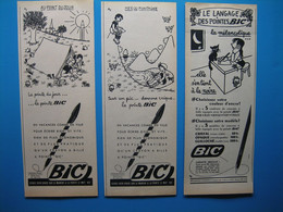 (1951 / 1952) Lot De 6 Publicités BIC (illustrateur Jean Effel) - Collections