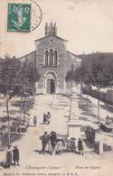 Isère : CHAMPIER : Place De L'église : Belle Animation Et Monument Aux Morts : Militaire : - Andere Gemeenten