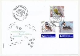 SUISSE -  FDC 2008 - Oiseaux Indigènes - SEMPACH - 8/5/2008 - 3 Enveloppes (2 Séries) - FDC