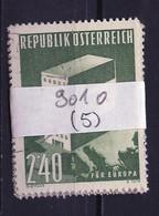 Europa CEPT 1959 Autriche - Österreich - Austria Y&T N°901 - Michel N°1059 (o) - 2,40s EUROPA - Lot De 5 Timbres - 1959