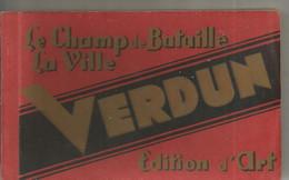Cp, 55 , VERDUN , Le Champ De Bataille ,la Ville ,ed. D'art HS , CARNET DE 20 CARTES POSTALES - Verdun