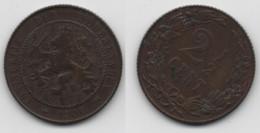 + PAYS BAS   + 2 1/2 CENT 1906 + - 2.5 Cent