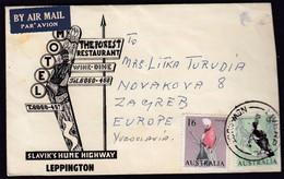 Australia Liverpool 1965 / Birds / Motel Slavik's Hume Highway, Leppington, The Forest Restaurant, Wine - Dine - Cartas