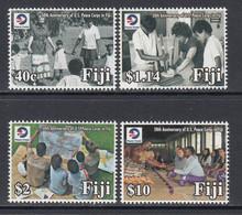 2018 Fiji Peace Corps USA Culture Education Complete Set Of 4 MNH - Fiji (1970-...)