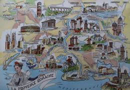 La PROVENCE Romaine Carte Géographique Nimes Tarascon Cadenet Lunel Bellegarde Lambesc Miramas FRANCE Geographic Map - Maps