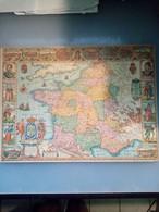 Ancienne Carte De France Publicitaire (Melleril) - Geographical Maps