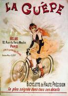 Thematiques Carte Publicitaire Nos Elégantes Bicyclettes La Guêpe Usine 10 Rue Du Fer à Moulin Paris - Advertising