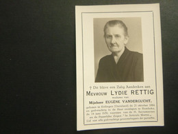 Doodsprentje ( 3952 )  Rettig  / Vandergucht  -  Ettlingen ( Duitsland )  Rumbeke  1959 - Obituary Notices