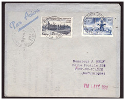 1 Ere Liaison Aérienne FRANCE MARTINIQUE Du 4.7.47. - 1927-1959 Briefe & Dokumente