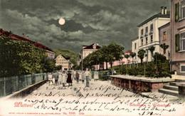 78438- Mondschein Ak Wattwil Schulhaus Und Webschule Kanton St. Gallen 1906 - SG St-Gall