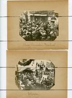 3 PHOTOGRAPHIES. D01. THOISSEY. Commandant BARATIER Et MARCHAND A L'arrivee Dans THOISSEY . Boucherie COTTIN - Famous People