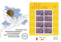 "Schweiz Suisse 1981: Pro Aero ""Ikarus"" De Hans Erni Zu F48 Mi 1196 Yv PA 48 FDC O BERN 9.3.81 (Prix Postale CHF 24.00 ) - Otras Cartas"