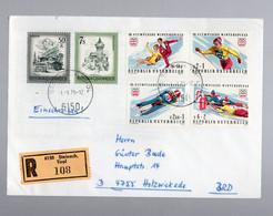 AUSTRIA / OSTERREICH - 1975 - OLYMPISCHE WINTERSPIELE Briefumschlag R Steinach - 1981-90 Briefe U. Dokumente
