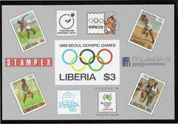 Liberia 1988 Seoul Olympic Games Imperforated Souvenir Sheet MNH/** (H55) - Ete 1988: Séoul