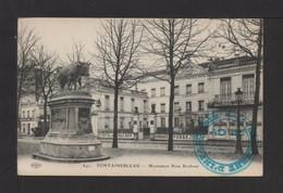 CPA . 77 . FONTAINEBLEAU . Monument Rosa Bonheur . Cachet Militaire 46e Régiment D'Infanterie - 22e Cie . - Fontainebleau
