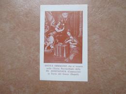 Antica Immagine Chiesa Parrocchiale SS.Annunziata Cappuccini Torre Del Greco Napoli ORAZIONE Vergine - Devotion Images